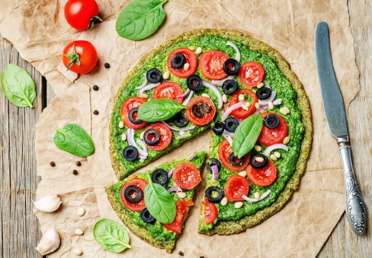 Špenátová pizza ze šmakouna