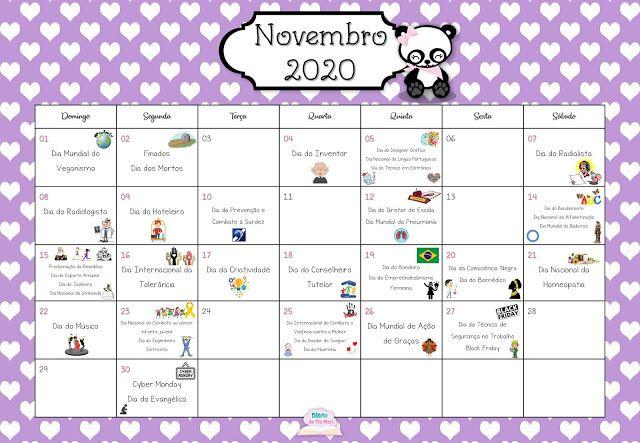 Pin Em Calendario
