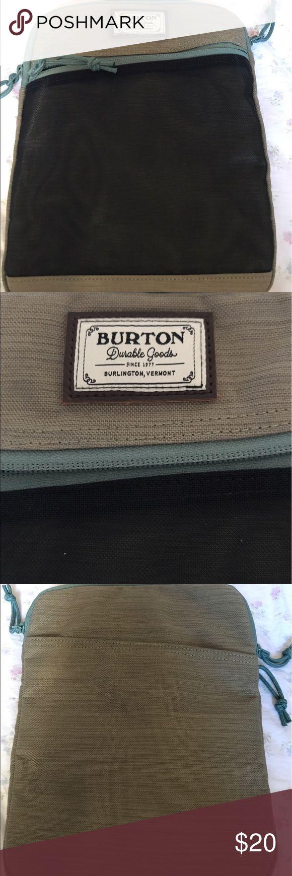Burton durable goods iPad mini / pro sleeve Brand-new Burton durable goods iPad sleeve case. Still has tags. Never used. Zippers work fine. 2 zippers. Burton Accessories Laptop Cases