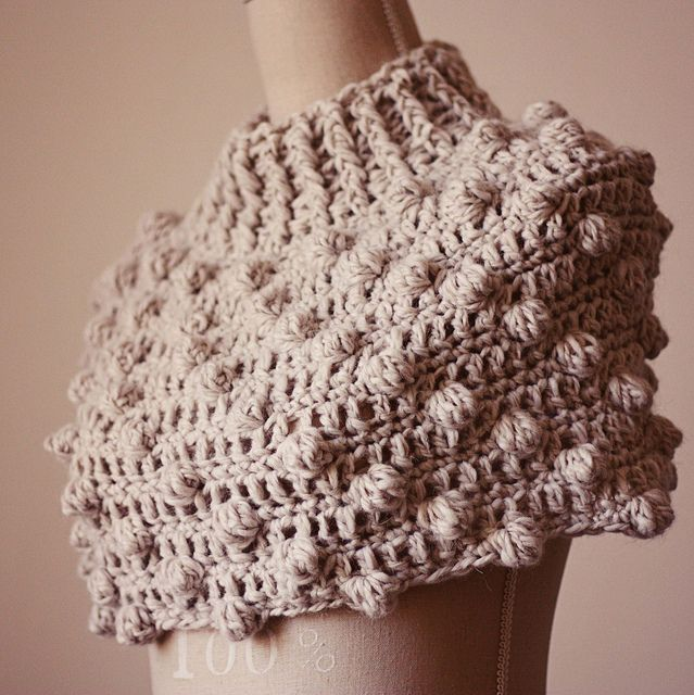 Bobble Snood or Poncho (two in one) by mon petit violon, via Flickr