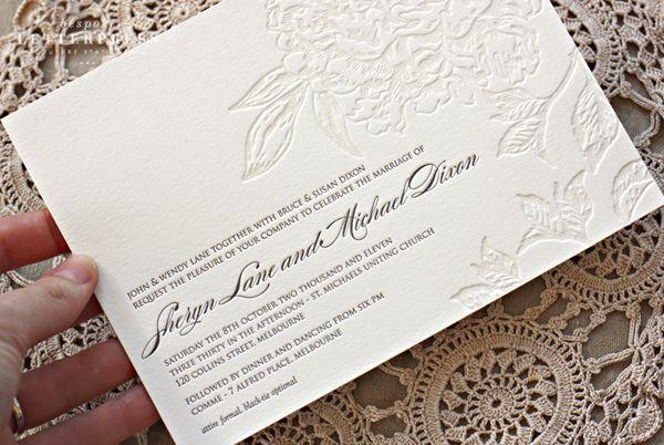 Wedding Invites Pinterest: Best 20+ Embossed Wedding Invitations Ideas On Pinterest