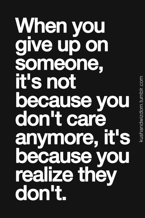 Sad but true...there does come a time when you can't take responsibility for someone's choices.