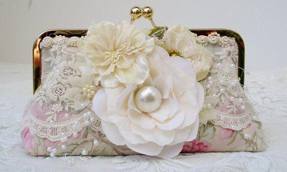 Shabby Chic Wedding / Vintage Wedding / by PetiteVintageBags, $70.00