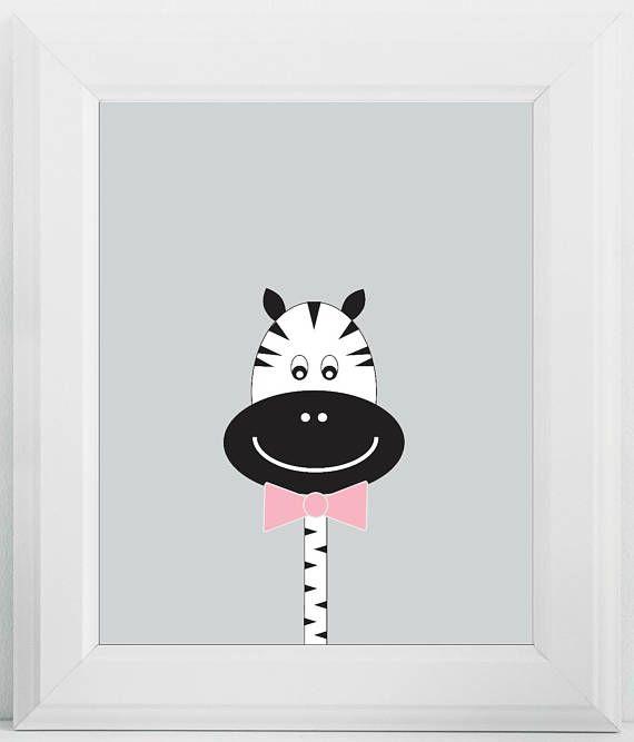 Zebra Nursery Print Digital Download Zebra Nursery Decor