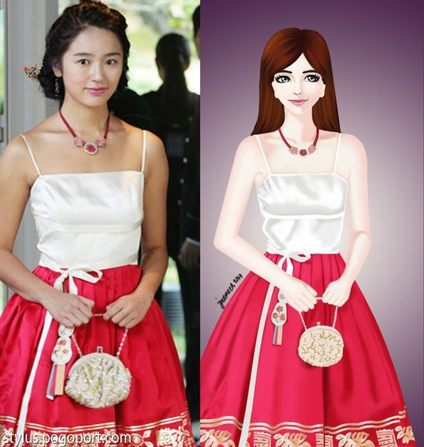 I remember years ago when I saw the korean drama Goong (Princess Hours), I couldn't help but admire the beautiful dresses worn by the lead star Yoon Eun-hye.  So I made some drawings of these…