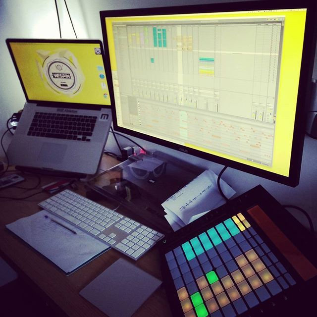 Sunday remix session, can't wait to share this! #WeSpin #Ableton #Remix