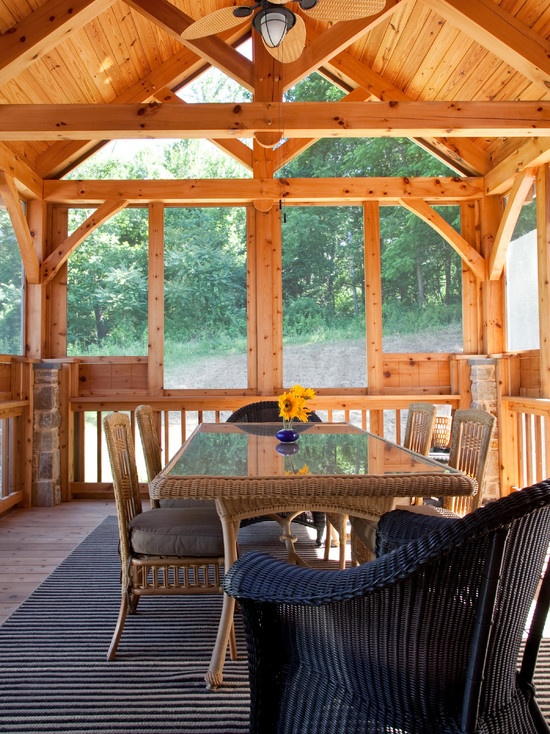 This looks like a nice place to eat breakfast in the morning.  Porch Ceiling Fans Design, Pictures, Remodel, Decor and Ideas - page 29