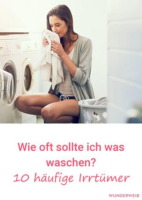 Weißt du, wie oft du was waschen solltest? Wir haben 10 Irrtümer entlarvt. #haushalt #haushaltstipps #waschen #wäsche