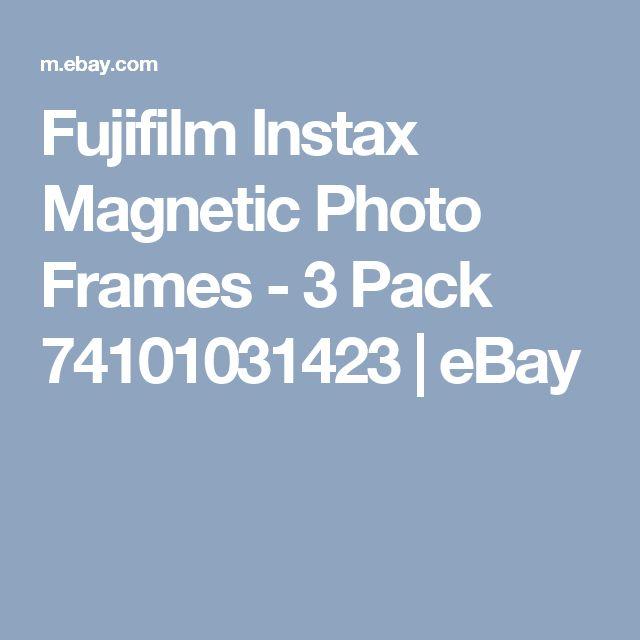 Fujifilm Instax Magnetic Photo Frames - 3 Pack 74101031423 | eBay