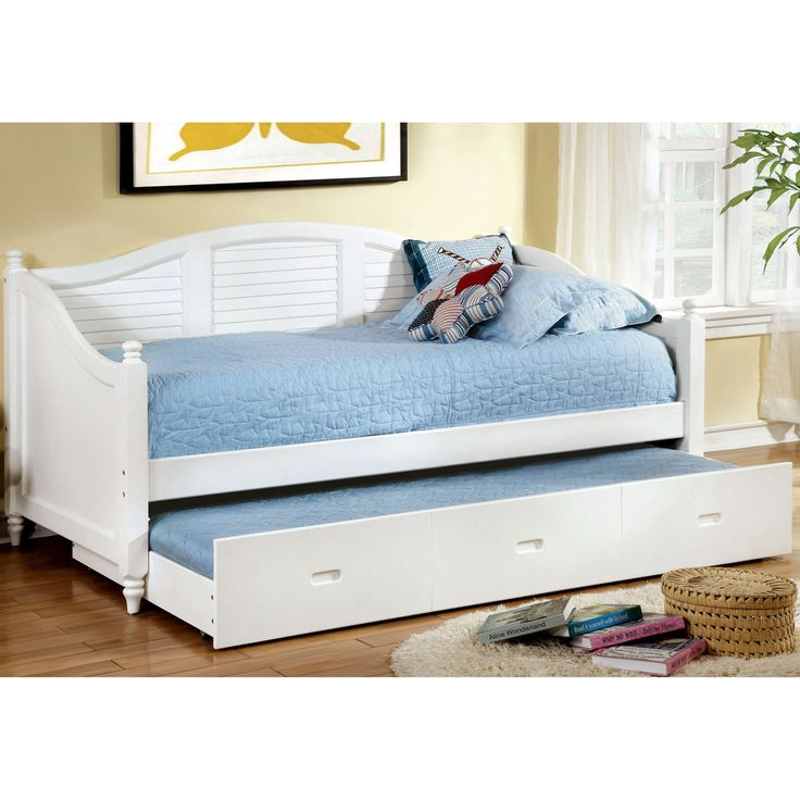Furniture of America Curved Articia Cottage Style Daybed with Trundle | Overstock™ Shopping - Great Deals on Furniture of America Kids' Beds