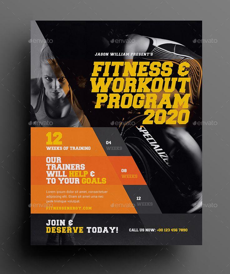 Ponad 25 najlepszych pomysłów na Pintereście na temat Fitness - fitness flyer