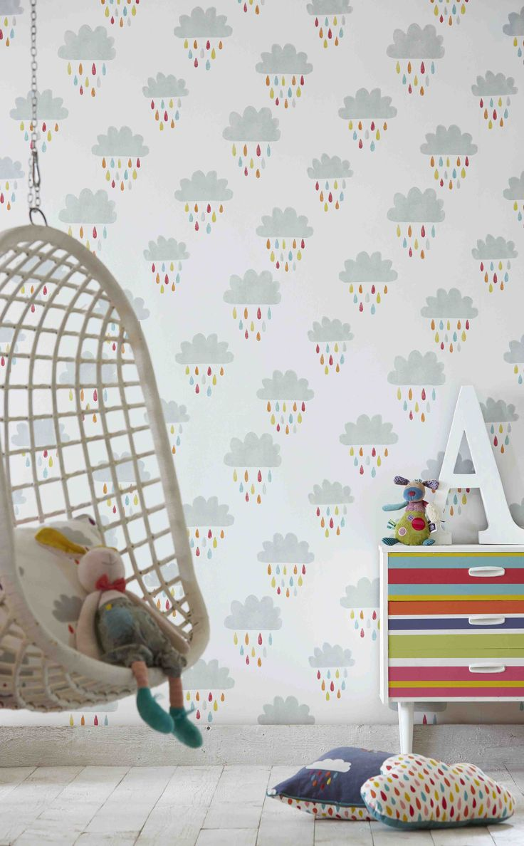 'April Showers' from Scion's 'Guess Who' collection is a great way of brightening up any kid's bedroom!