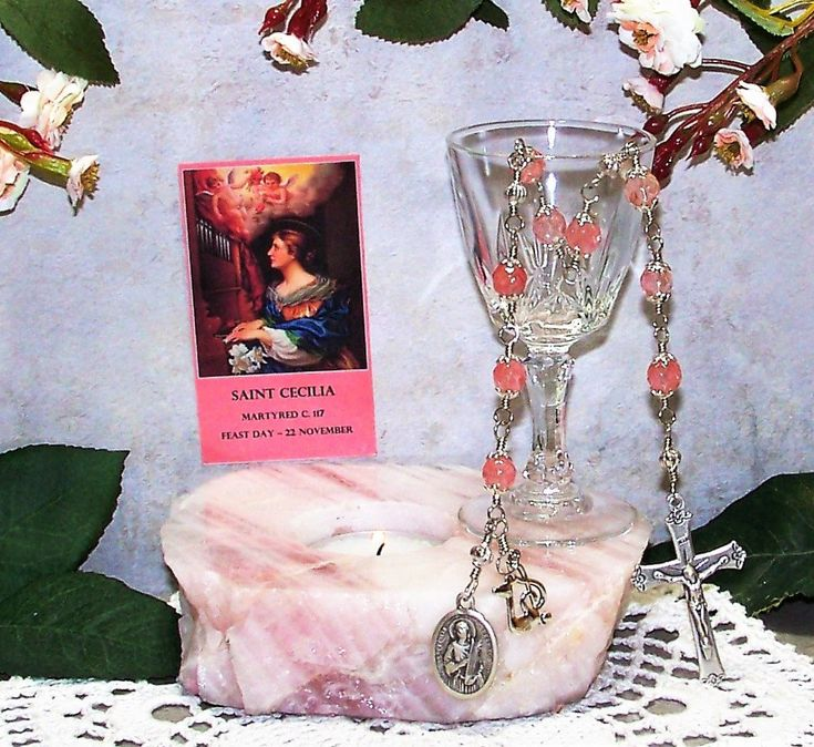 Unbreakable Catholic Chaplet of St. Cecilia - Patron Saint of Musicians, Singers, Composers and Poets by foodforthesoul on Etsy