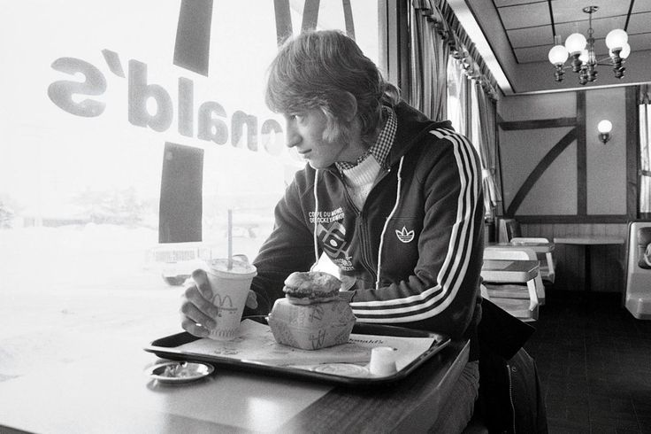 "A 16-year-old Wayne Gretzky has breakfast at McDonald's on Jan. 15, 1978 in Sault Ste. Marie, Canada. ""The Great One"" retired in 1999 with 894 NHL goals, 2,857 points, four 200+ point seasons and 61 NHL records. Gretzky turned 56 years old on Jan...."