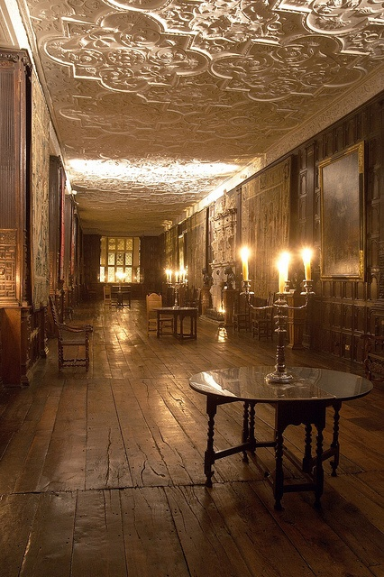 Aston Hall by Candlelight 2009 - looking beautiful and rather ghostly!