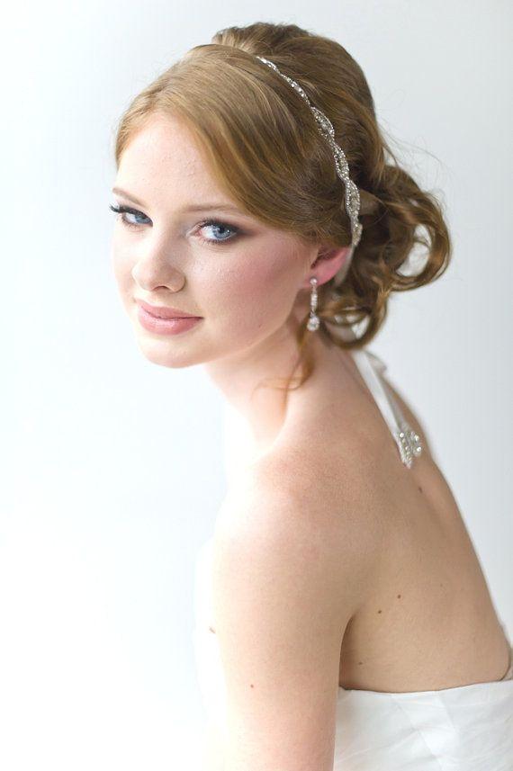 Bridal Ribbon Headband Luxe Satin Ribbon by PowderBlueBijoux, $39.00