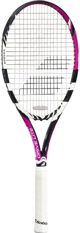 The Babolat Drive Lite Tennis Racquet is geared toward the beginner to intermediate player possessing a shorter to moderate swing, looking for a slightly lighter and more maneuverable feel versus the regular Pure Drive