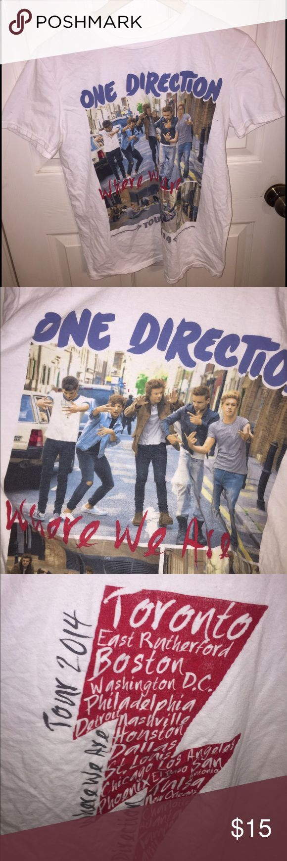 1D One Direction 2014 where we are tour tee Bought it in Glendale, AZ when they were here sept 2014 Tops Tees - Short Sleeve