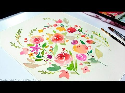 DIY Greeting Card / Watercolor Painting - Level 3 - YouTube