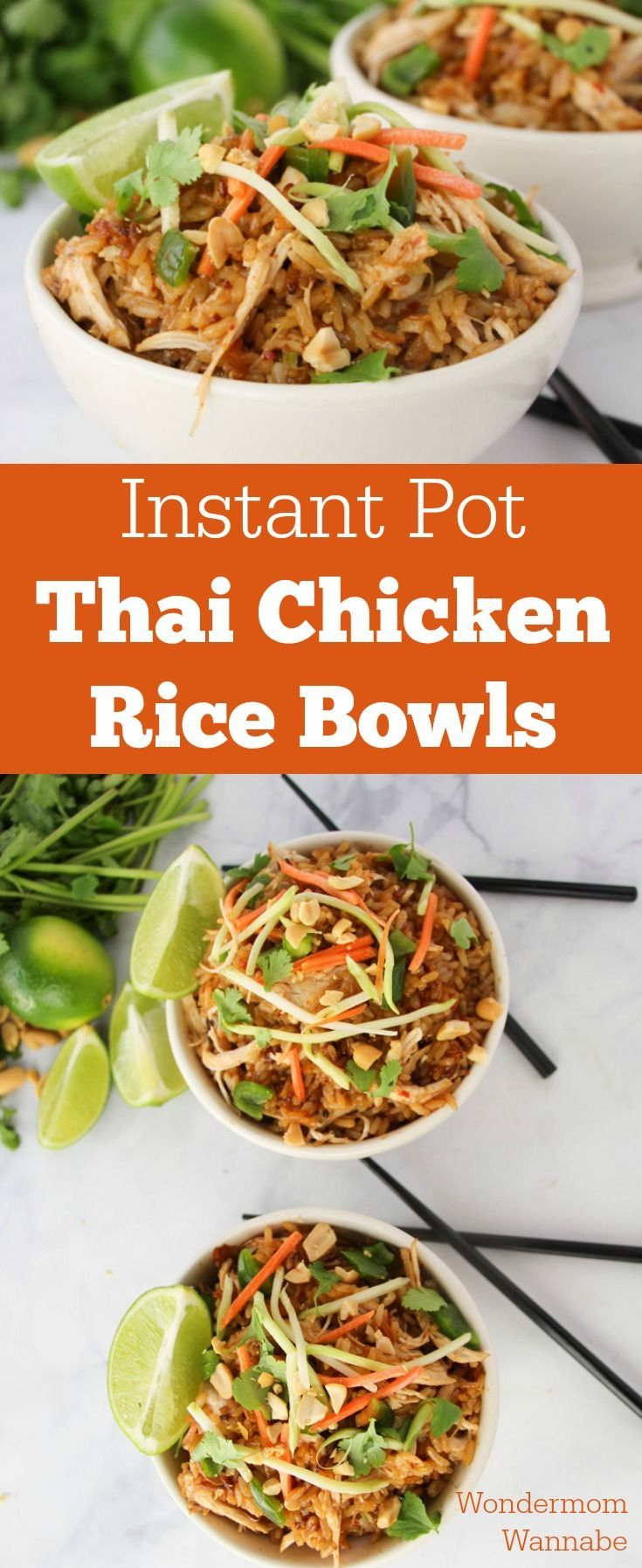This is one of my all-time favorite Instant Pot recipes! These Thai Chicken Rice...