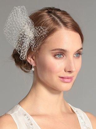 62% OFF Nina Women's Laurent Cage Veil with Swarovski Crystals, Ivory