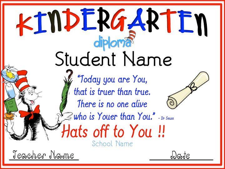 kindergarten graduation diplomas templates