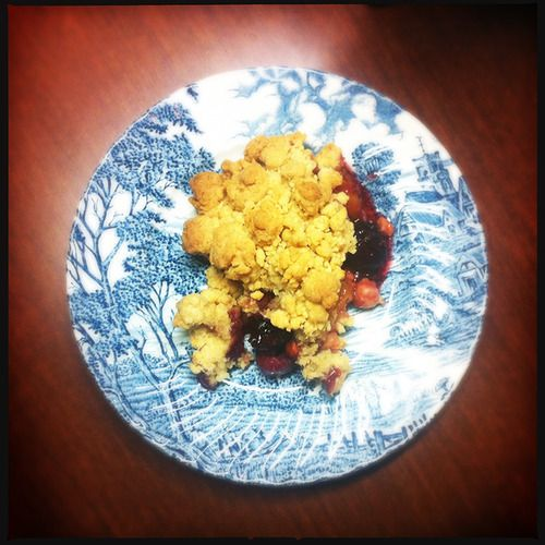Cherry and apple crumble my way