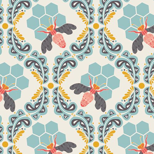 SWEET AS HONEY--Bee Sweet--Morning--Bonnie Christine--Art Gallery Fabrics--100% Pima cotton--price is per yard