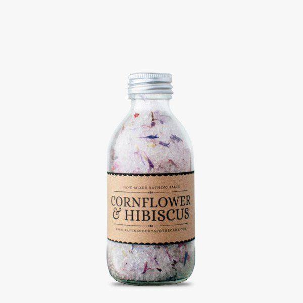 Bath salt with cornflower and hibiscus #bath #cornflower #hibiscus #salt #relax #hnstly #ravenscourt