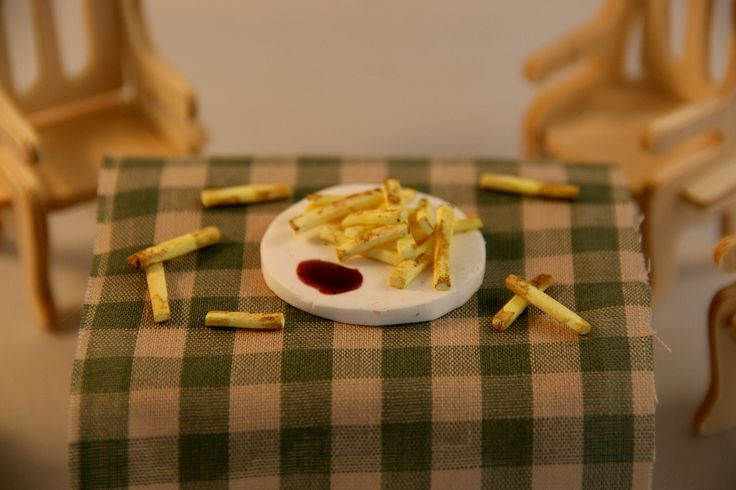 French fries - polymer clay