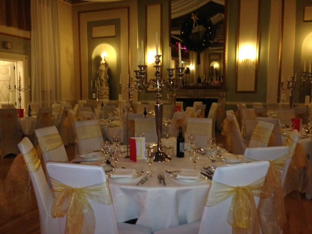 Weddings at the City Rooms in Leicester Chair covers by Midlands Chair Cover Hire