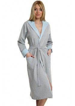Szlafrok bawełniany Italian Fashion *szary* :: Pierwsza-Wyprawka PL 108 PLN