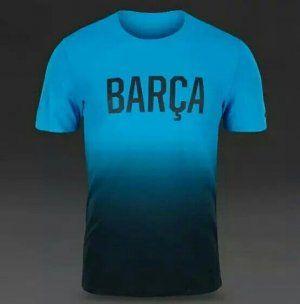 FC Barcelona Jersey 2016-17 Season Blue&Black Skintight Training Shirt [E795]