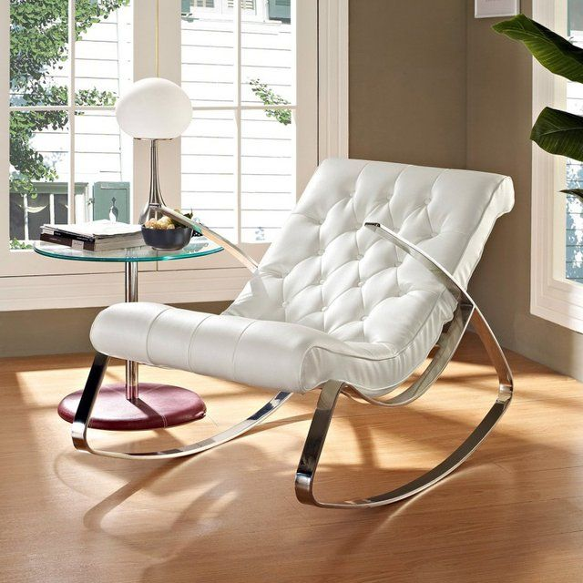 Rodeo White Rocking Chair #Chair, #Comfortable, #Elegant, #Luxury
