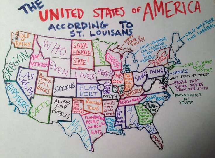 The United States According To St Louisans