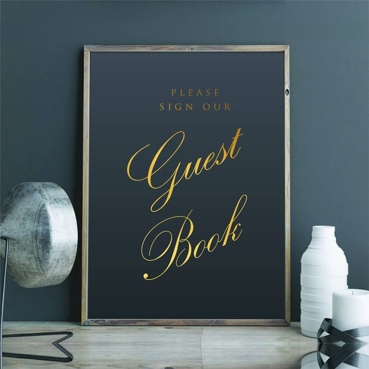 Please Sign Our Guest Book Real Gold Foil Vinyl Wedding Decal Silver Foil Print Wedding Decor Wedding Sticker Sign Wedding Signage by FixateDesigns on Etsy