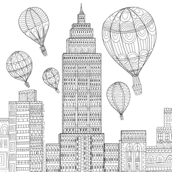200 best coloring pages to print cities images on