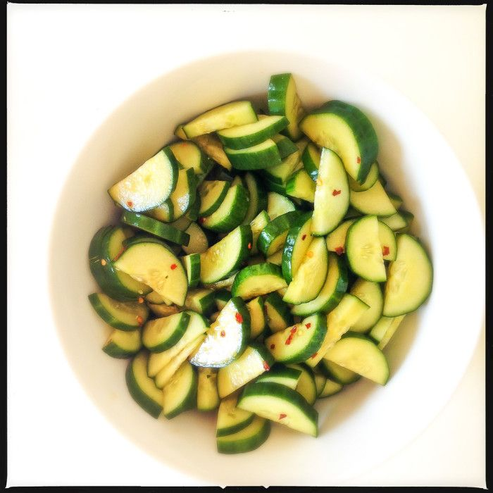 Quick and easy cucumber pickles to serve as part of an Asian-style sharing meal - Bill Granger
