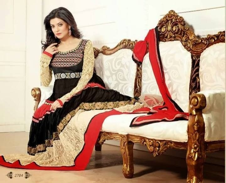 This is the image gallery of Sushmita Sen Anarkali Frocks Dresses 2014 for Girls. You are currently viewing Sushmita Sen Anarkali Frocks 2014 for Girls (13). All other images from this gallery are given below. Give your comments in comments section about this. Also share stylespoint.com with your friends.  #anarkalifrocks, #indiandresses, #anarkalisuits, #sushmitasen