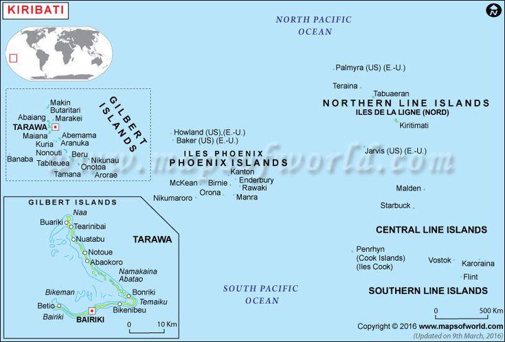 Political Map of Kiribati