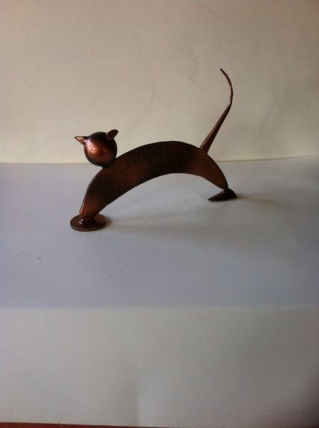 SCULPTURE pont saint esprit gard sculpure metal Animaux Assemblage Métal  - le chat
