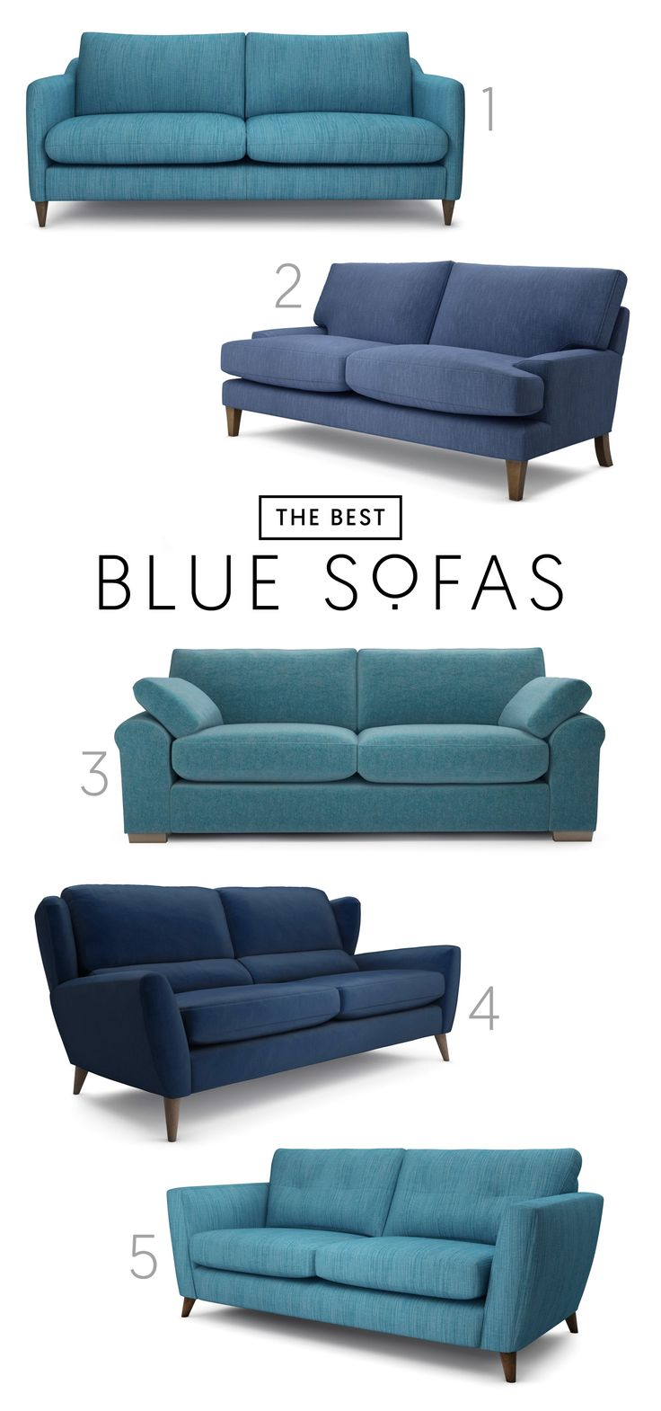 The Best 5 Blue Sofas | Discover Our Favourite Blue Sofas From The Lounge Co .