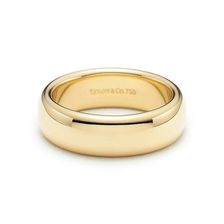 Lucida® wedding band ring in 18k gold, 6mm wide. | Tiffany  Co.