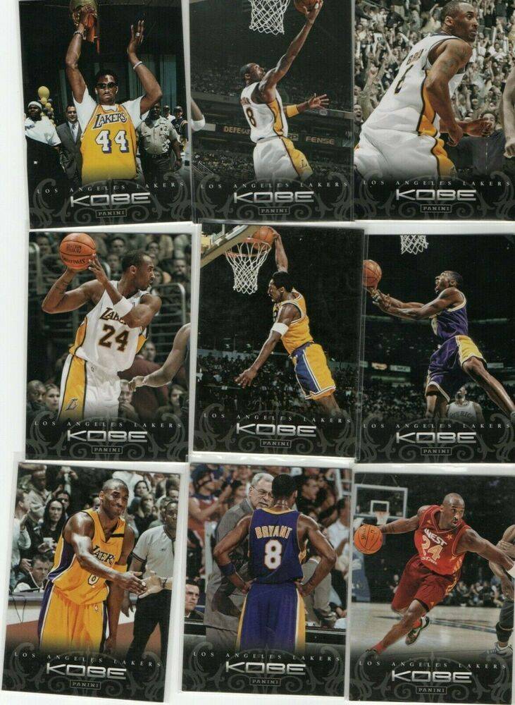 Kobe Bryant Los Angeles Lakers 77 Kobe Anthology Card 2015 2016 Panini Dunk Kobe Bryant Black Mamba Kobe Bryant 24 Kobe Bryant