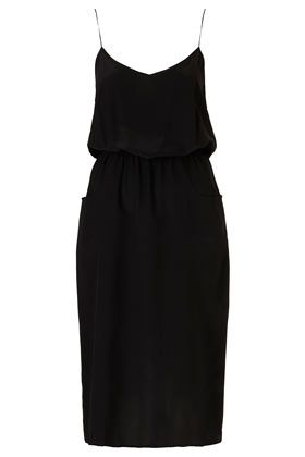 Silk Midi Pocket Dress By Boutique - Maxi & Midi Dresses - Dresses  - Clothing