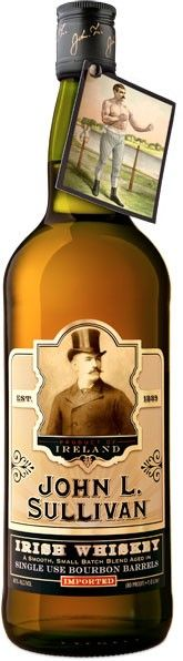 John L. Sullivan Irish Whiskey.  Aged for a minimum of four years in ex-bourbon casks, this Irish #whiskey won the Gold Medal at the 2014 International Craft Spirits Competition. | @Caskers
