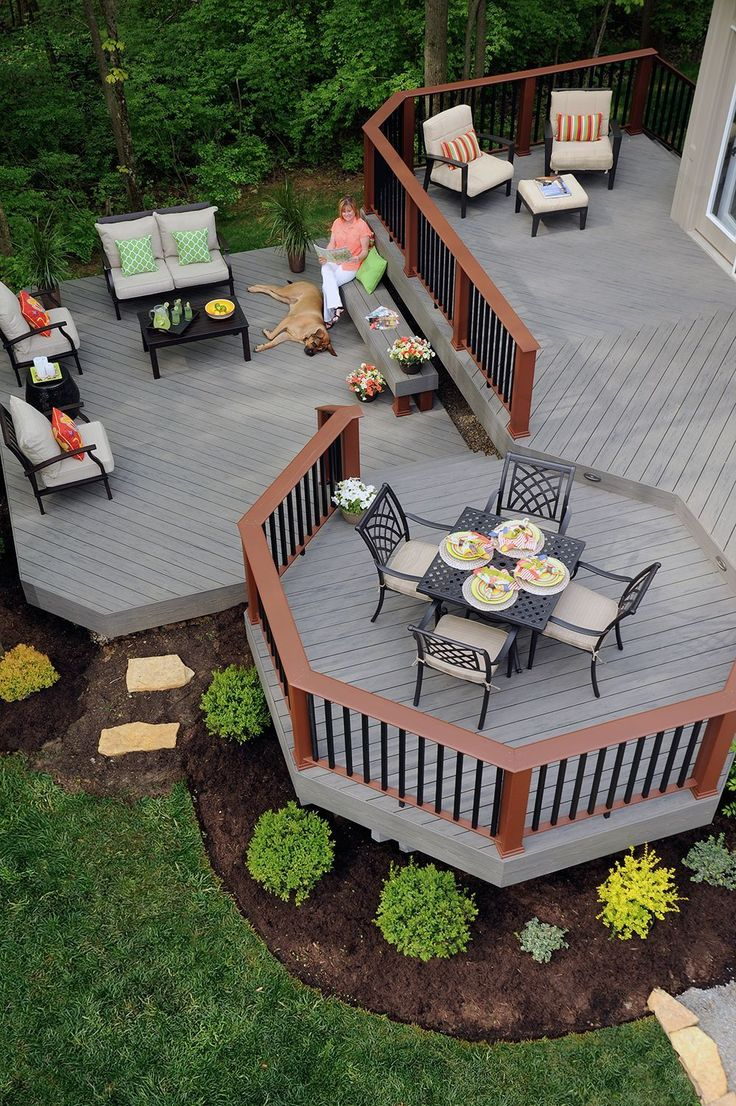 13 Awesome Concepts of How to Craft Backyard Deck …