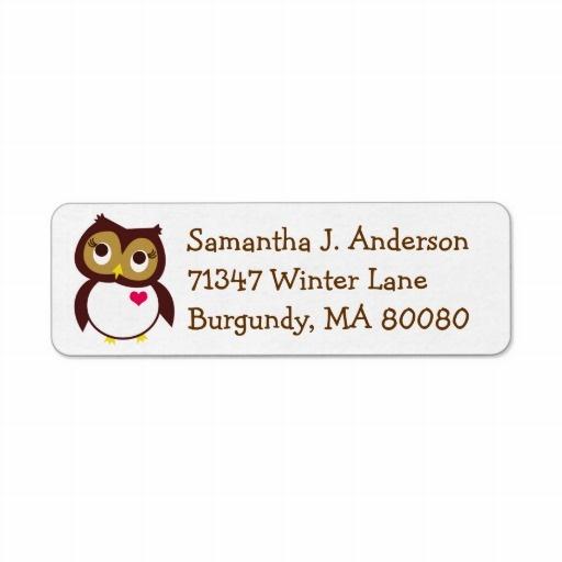 Best Owl Return Address Labels Images On   Owl Owls