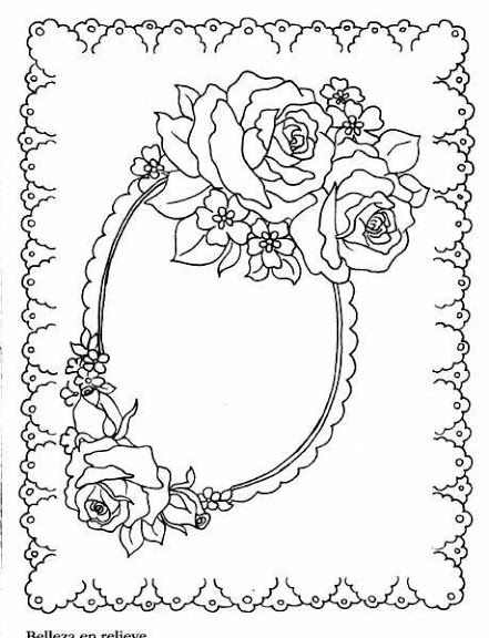 143 best Bos coloring blank frames images on Pinterest