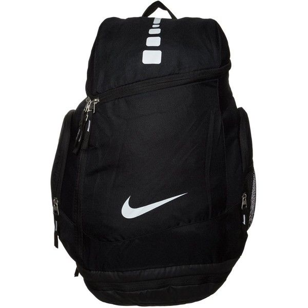 Nike Performance HOOPS ELITE MAX AIR TEAM Rucksack/white ($56) ❤ liked on Polyvore featuring bags, backpacks, backpack, black, laptop rucksack, nike, white backpack, strap backpack and daypacks